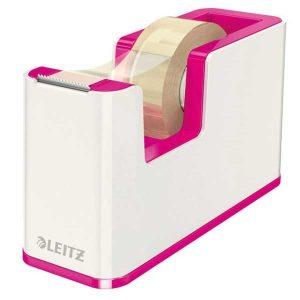 Dispenzor s páskou Leitz WOW biely/metalický ružový