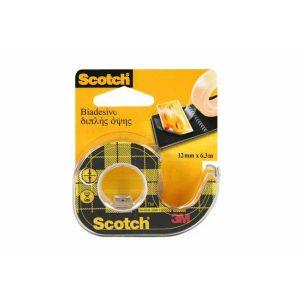 Lepiaca páska Scotch obojstranná s dispenzorom 12mm x 6,3m